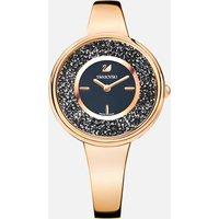 Crystalline Pure Watch, Metal bracelet, Black, Rose-gold tone PVD