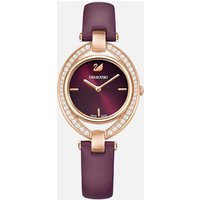 Stella Watch, Leather strap, Dark red, Rose-gold tone PVD - Stella Gifts