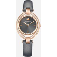 Stella Watch, Leather strap, Dark grey, Rose-gold tone PVD - Stella Gifts