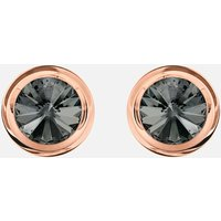Round Cuff Links, Grey, Rose-gold tone plated - Cuff Links Gifts