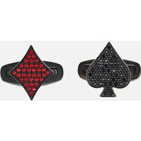 Unisex Tarot Magic Cuff Links, Red, Black PVD - Cuff Links Gifts