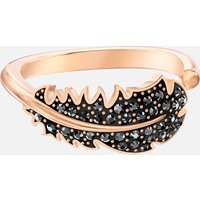 Naughty Motif Ring, Black, Rose-gold tone plated - Naughty Gifts