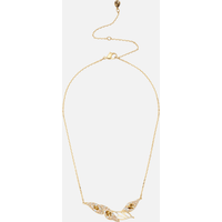 Graceful Bloom Necklace, Brown, Gold-tone plated - Necklace Gifts