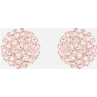 Blow Pierced Earrings, Pink, Rose-gold tone plated - Swarovski Crystal Gifts