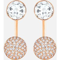 Forward Pierced Earring Jackets, White, Rose-gold tone plated - Swarovski Crystal Gifts