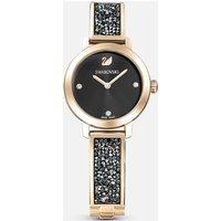 Cosmic Rock Watch, Metal bracelet, Grey, Champagne-gold tone PVD