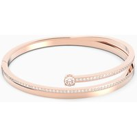 Fresh Bangle, White, Rose-gold tone plated