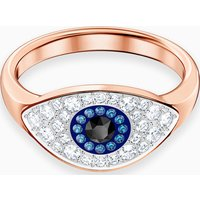 Swarovski Symbolic Evil Eye Ring, Multi-coloured, Rose-gold tone plated - Swarovski Gifts