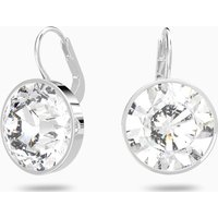 Bella Pierced Earrings, White, Rhodium plated - Swarovski Gifts