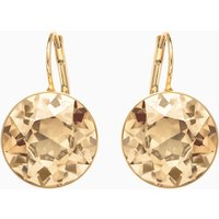 Bella Pierced Earrings, Brown, Gold-tone plated - Swarovski Gifts