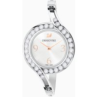 Lovely Crystals Bangle Watch, Metal bracelet, White, Stainless steel