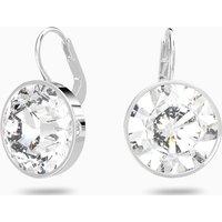 Bella Pierced Earrings, White, Rhodium plated - Jewellery Gifts