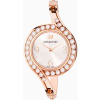 Lovely Crystals Bangle Watch, Metal bracelet, White, Rose-gold tone PVD