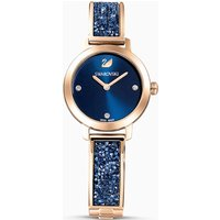 Cosmic Rock Watch, Metal bracelet, Blue, Rose-gold tone PVD