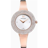 Crystal Rose Watch, Metal bracelet, White, Rose-gold tone PVD