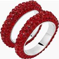 Tigris Stacking Ring, Red, Palladium plated - Red Gifts