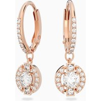Swarovski Sparkling Dance Round Pierced Earrings, White, Rose-gold tone plated - White Gifts