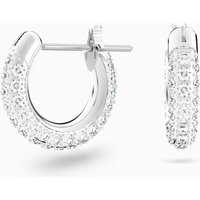 Stone Pierced Earrings, White, Rhodium plated - Small Gifts