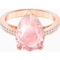 Vintage Cocktail Ring, Pink, Rose-gold tone plated - Vintage Gifts