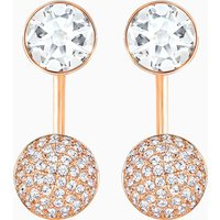 Forward Pierced Earring Jackets, White, Rose-gold tone plated - Jackets Gifts