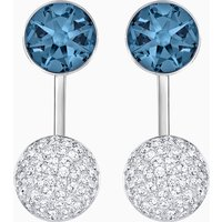 Forward Pierced Earring Jackets, Blue, Palladium plated - Jackets Gifts