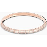Stone Bangle, White, Rose-gold tone plated - Pink Gifts