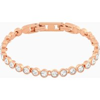 Tennis Bracelet, White, Rose-gold tone plated - Tennis Gifts