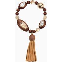 Wood Crystallized Tassell Bracelet, palladium plating - Bracelet Gifts