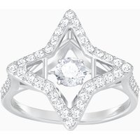 Sparkling Dance Star Ring, White, Rhodium plated - Dance Gifts