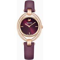 Stella Watch, Leather strap, Dark red, Rose-gold tone PVD - Stella Gifts