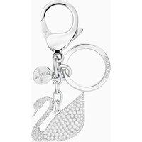 Swarovski Iconic swan Handtaschen-Charm, weiss, Edelstahl