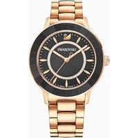 Octea Lux Watch, Metal bracelet, Black, Rose-gold tone PVD - Watch Gifts