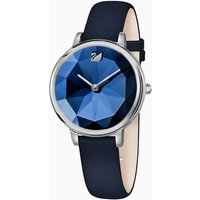 Crystal Lake Watch, Leather strap, Blue, Stainless steel - Watch Gifts