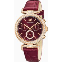 Era Journey Watch, Leather strap, Dark red, Rose-gold tone PVD - Watch Gifts