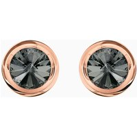 Round Cufflinks, Grey, Rose-gold tone plated - Cuff Links Gifts
