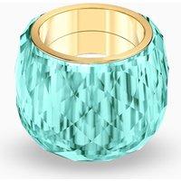 Swarovski Nirvana Ring, Aqua, Gold-tone PVD - Nirvana Gifts