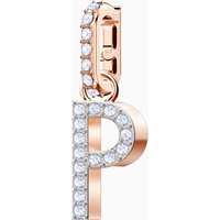 Swarovski Remix Collection Charm P, White, Rose-gold tone plated