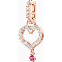 Swarovski Remix Collection Heart Charm, weiss, Rosé vergoldet