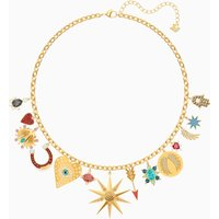 Lucky Goddess Charms Necklace, Multi-coloured, Gold-tone plated - Charms Gifts