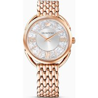 Crystalline Glam Watch, Metal bracelet, White, Rose-gold tone PVD - Watch Gifts