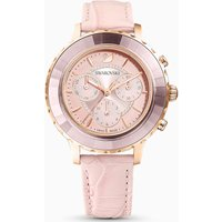 Octea Lux Chrono Watch, Leather strap, Pink, Rose-gold tone PVD - Watch Gifts