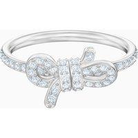 Lifelong Ring, Small, White, Rhodium plated