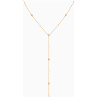 No Regrets Y Necklace, Multi-coloured, Gold-tone plated