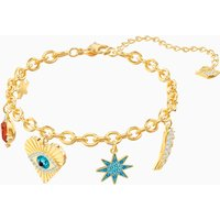 Lucky Goddess Charms Bracelet, Multi-coloured, Gold-tone plated - Charms Gifts