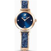 Cosmic Rock Watch, Metal bracelet, Blue, Rose-gold tone PVD