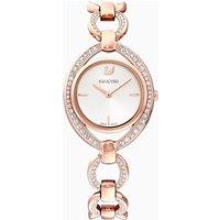 Stella Watch, Metal bracelet, White, Rose-gold tone PVD - Stella Gifts