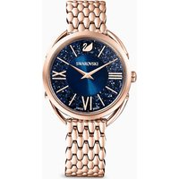 Crystalline Glam Watch, Metal bracelet, Blue, Rose-gold tone PVD - Watch Gifts