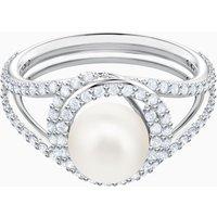 Originally Cocktail Ring, White, Rhodium plated