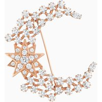 Penélope Cruz Moonsun Brooch, Limited Edition, White, Rose-gold tone plated