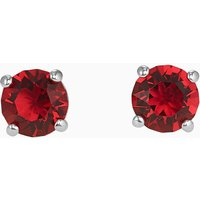 Attract Stud Pierced Earrings, Red, Rhodium plated - Red Gifts